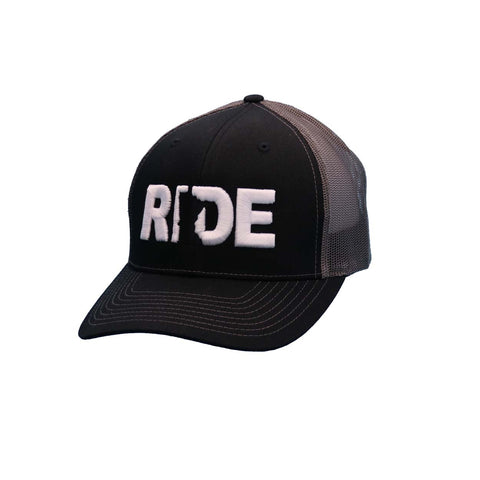 RIDE MINNESOTA CLASSIC TRUCKER HAT BLACK/WHITE (GREY MESH)