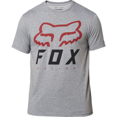 FOX MEN'S HERITAGE FORGER SS TECH TEE GRAPHITE/RED