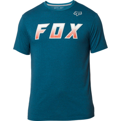 FOX MEN'S HIGHTAIL IT SS TECH TEE HEATHER MAUI BLUE