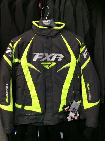 FXR Team Jacket CHAR/HIVIS Size 6 With Free Shipping!!!!
