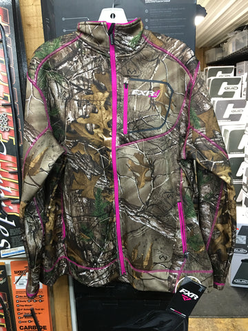FXR Women's Elevation Tech Zip-up Realtree Extra/Fuchsia