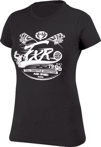 FXR LADIES Mad Speed T-Shirt Black/White