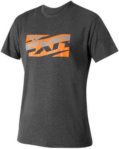 FXR MEN'S Throttle Tech T-Shirt Char/Orange