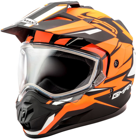 GMAX GM11S DUAL SPORT SNOW VERTICAL BLACK/HI-ORANGE