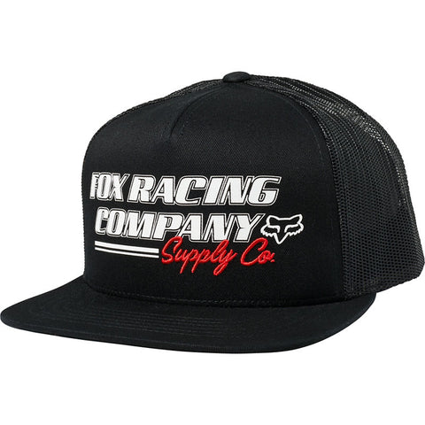 FOX PIT STOP SNAPBACK HAT BLACK
