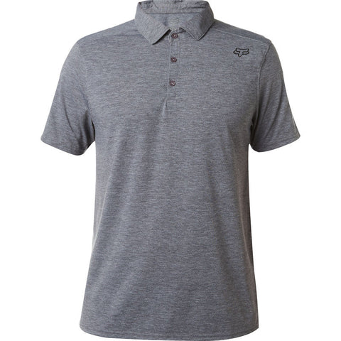FOX MEN'S ROOKIE SS POLO HEATHER GRAPHITE