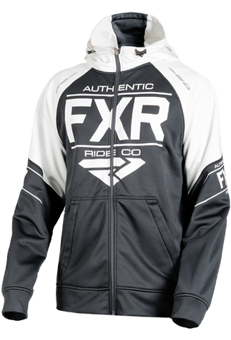 FXR RIDE TECH HOODIE BLACK/WHITE Free Shipping!!!!!