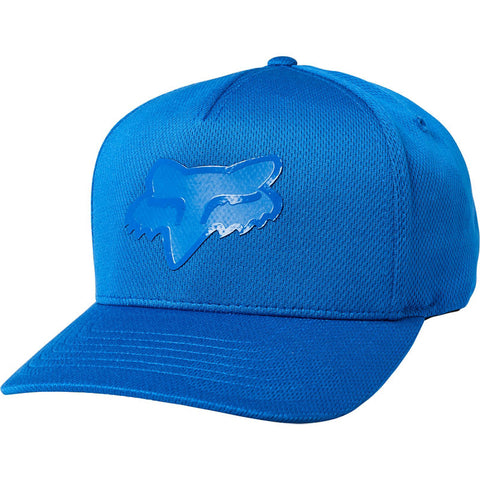 FOX STAY GLASSY FLEXFIT HAT ROYAL BLUE