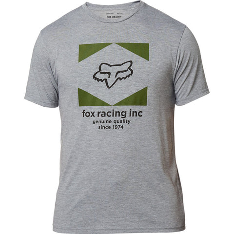 FOX MEN'S STUDIO SS TECH TEE HEATHER GRAPHITE