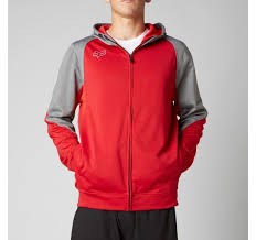 FOX MEN'S TERRAIN ZIP FLEECE RED