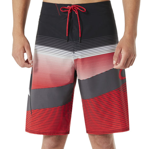 OAKLEY GNARLY WAVE 21 SHORTS RED LINE