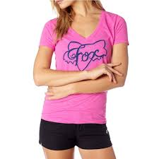 FOX WOMEN'S WHIRL V NECK FUSCHIA