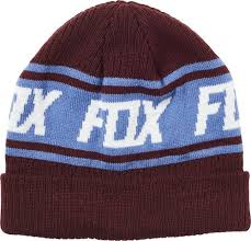 FOX WILD AND FREE BEANIE CRANBERRY