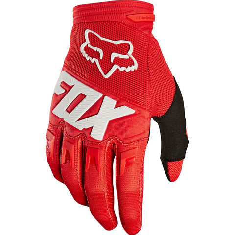 FOX YOUTH DIRTPAW GLOVE-RACE RED