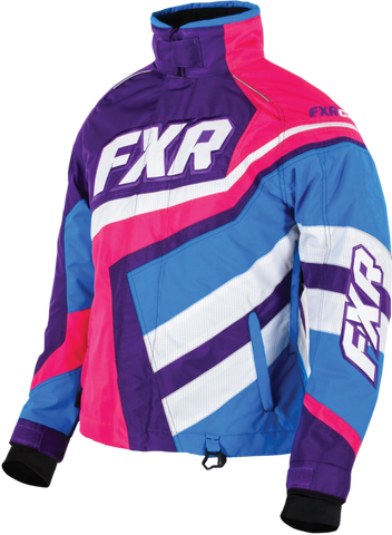 FXR LADIES COLD CROSS X PURPLE/FUCHSIA JACKET SIZE 8 FREE SHIPPING