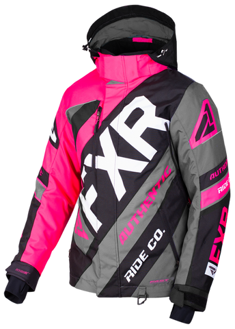 2019 FXR LADIES CX FUCHSIA/BLACK/CHAR JACKET FREE SHIPPING