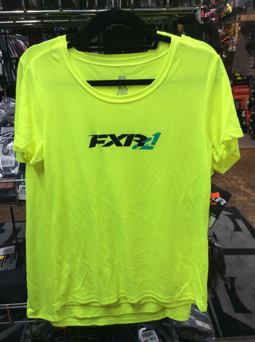 FXR LADIES Infinite Active Tee Hi-VIs/Aqua