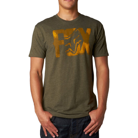 FOX MEN'S LURCHING SS PREMIUM TEE MIL