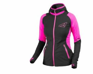 FXR Women's Clash Active Hoodie Black/Fuchsia