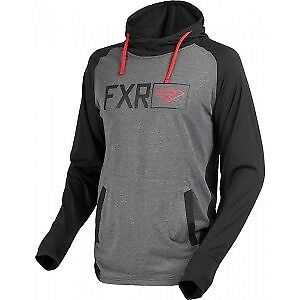 FXR MEN'S Terminal Tech PO Hoodie Black/Char Hthr/Red
