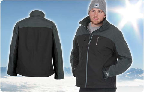 ICE ROCK BLACK/GREY SOFT SHELL JACKETS   Free Shipping!!!!