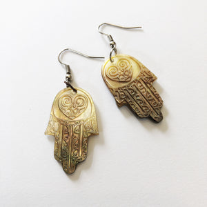 Earrings Hamsa Hand