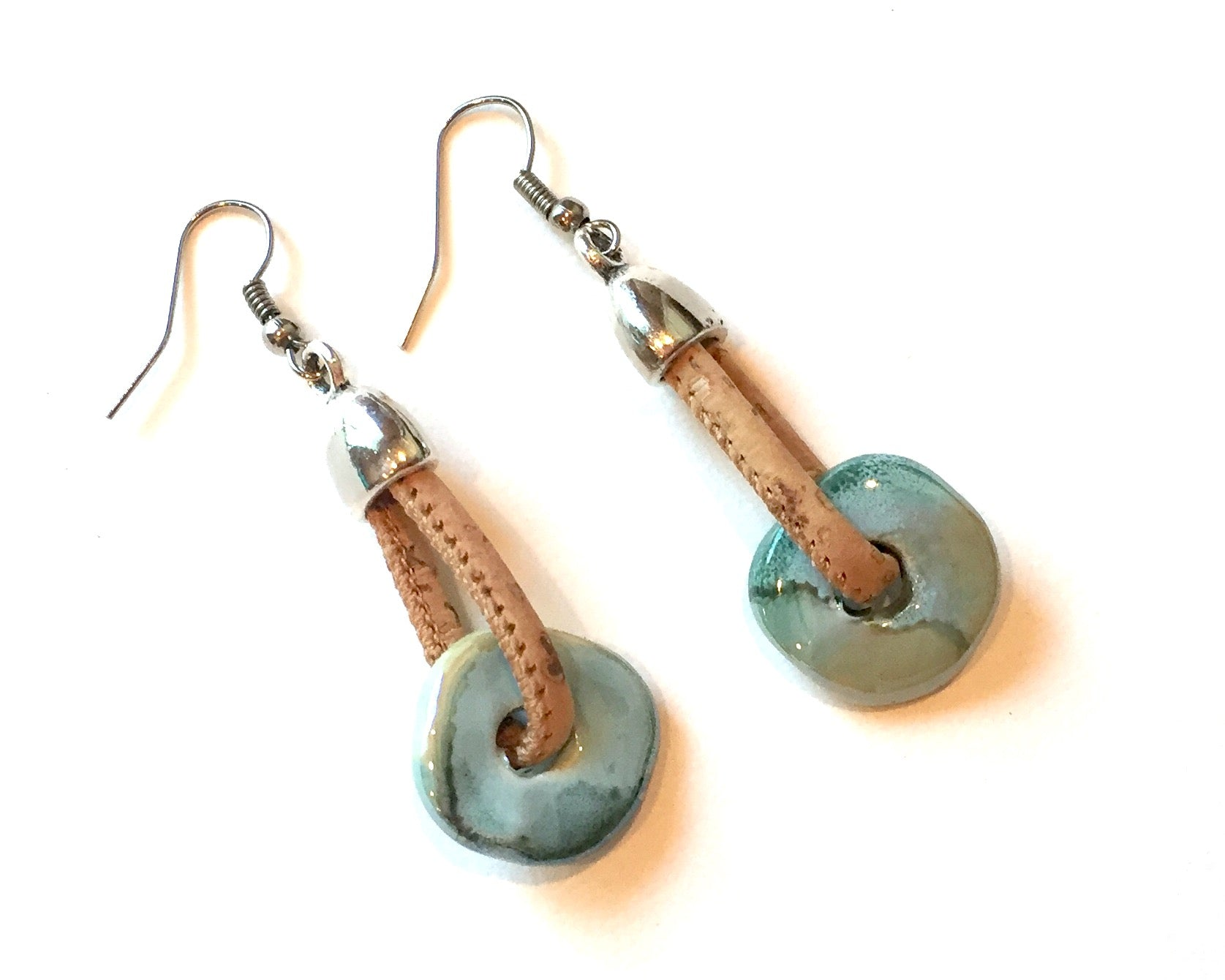 Cork Earrings Ceramic