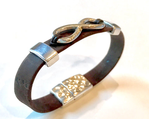 Cork Infinity Bracelet - Brown