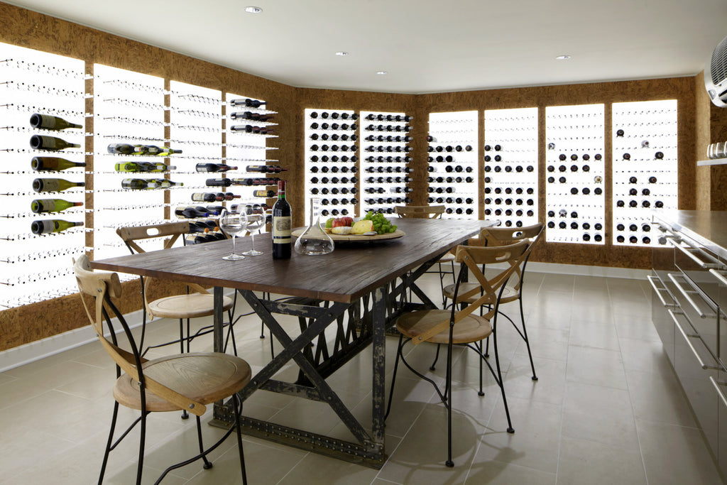 Wine pegs - Modern wine rack display system