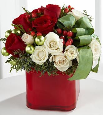 Holiday Square Vase Arrangement