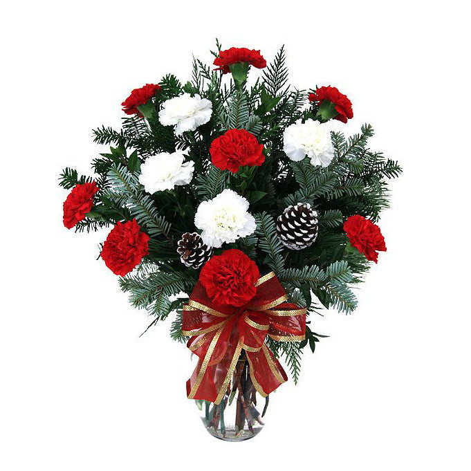 Happy Holidays Vase Arrangement