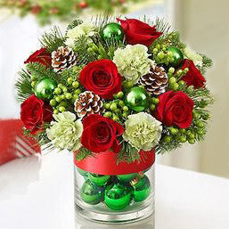 Festive Baubles Holiday Arrangement