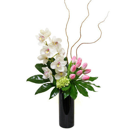Orchid and Tulip Glory Arrangement