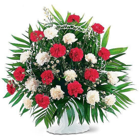 Red and White Arrangement