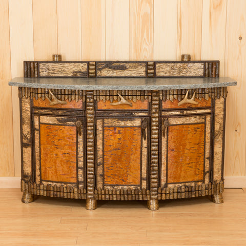 Cascade Bowfront Sideboard with Adirondack Granite Top