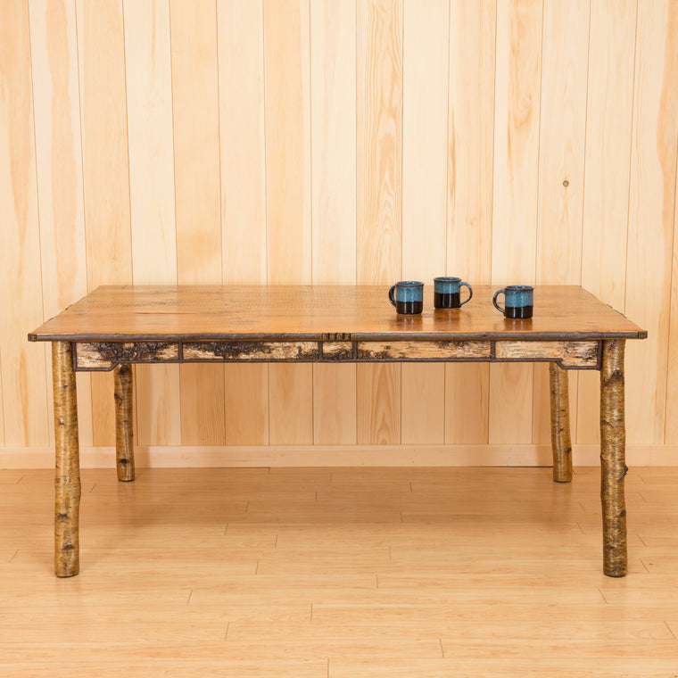 Adirondack Rustic Birch Dining Table