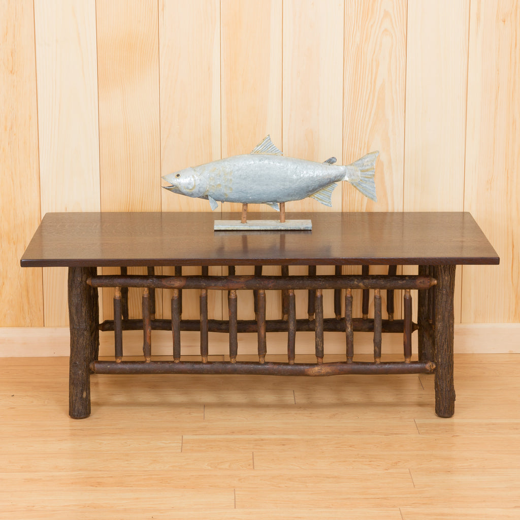 Hickory Coffee Table With Quarter Sawn Oak Acid Finish Top