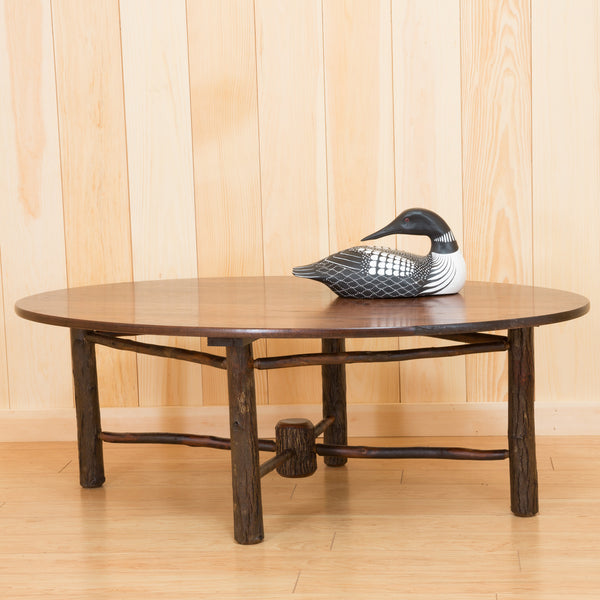Raquette Hickory Oval Coffee Table