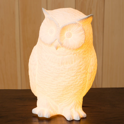 Bone China Owl Lamp