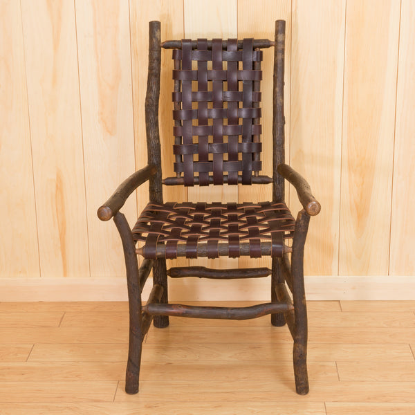 Winslow Arm Chair in Hickory with Leather Strap Seating