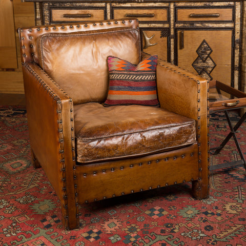 Buffalo Leather Square Club Chair