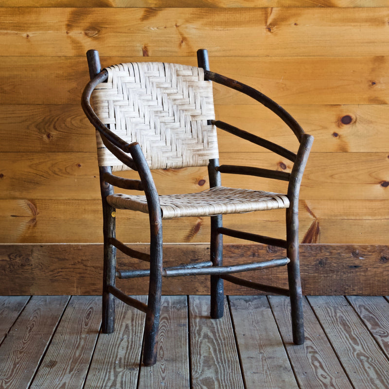 Andrew Jackson Hickory and Splint Hoop Back Rustic Chair