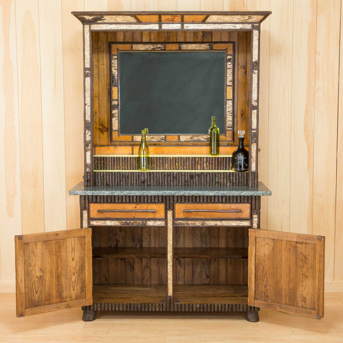 Adirondack Rustic Birch Bar