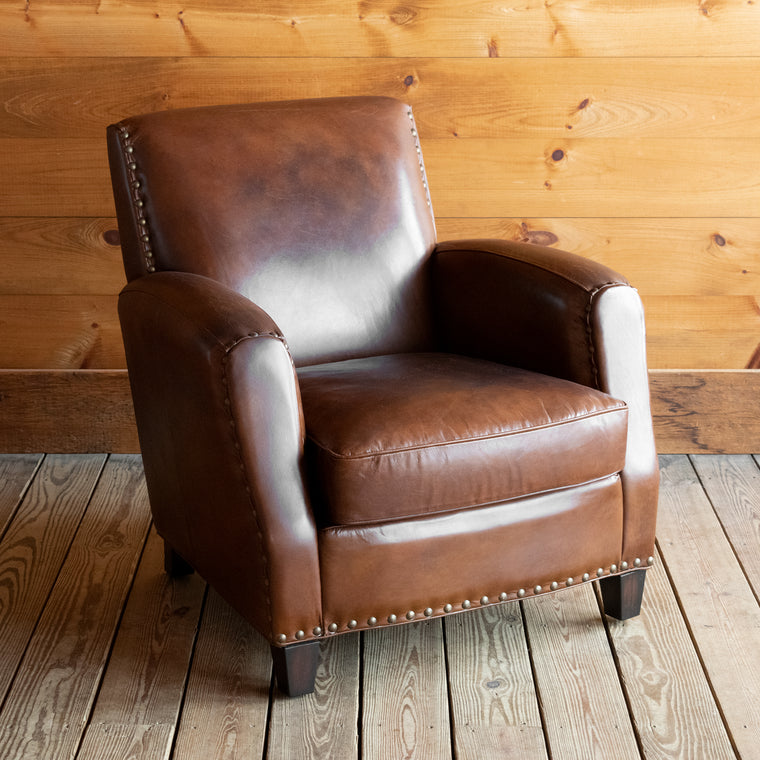 Cigar Leather Club Chair