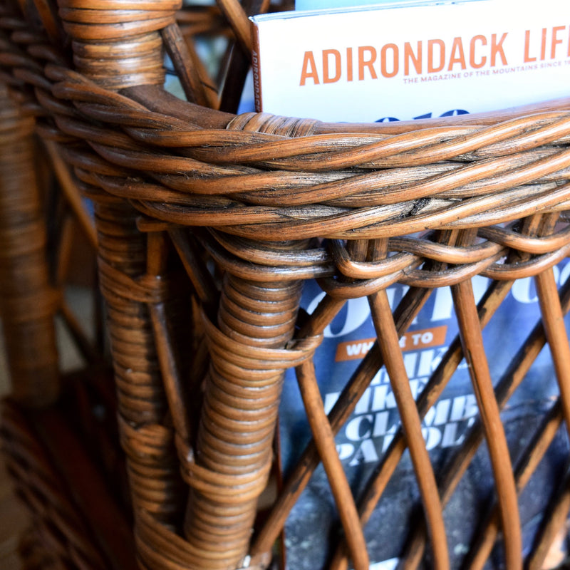 Wicker Pocket/Magazine Table