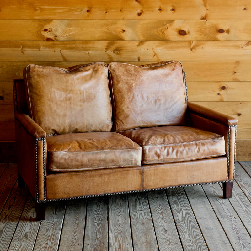 Pleasing Murray Loveseat In Buffalo Leather Inzonedesignstudio Interior Chair Design Inzonedesignstudiocom