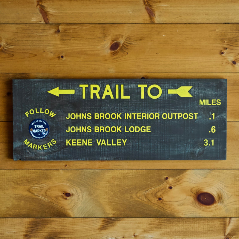 Johns Brook Adirondack Trail Sign
