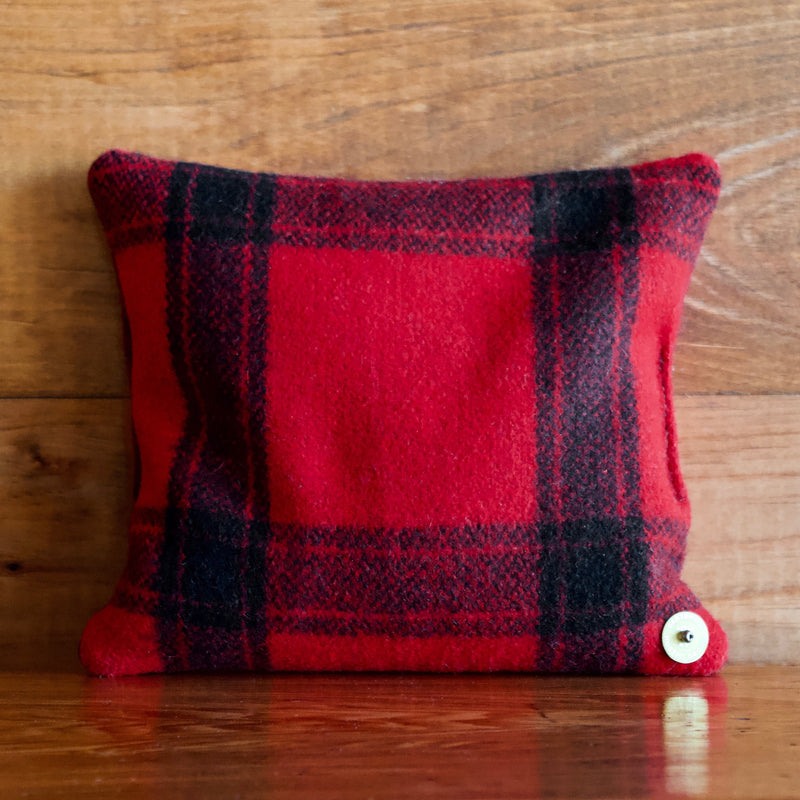Balsam Pillow Crafted from Vintage Woolrich Hunting Jackets in Classic Red Buffalo Plaid  and Filled with Fresh Ground Balsam
