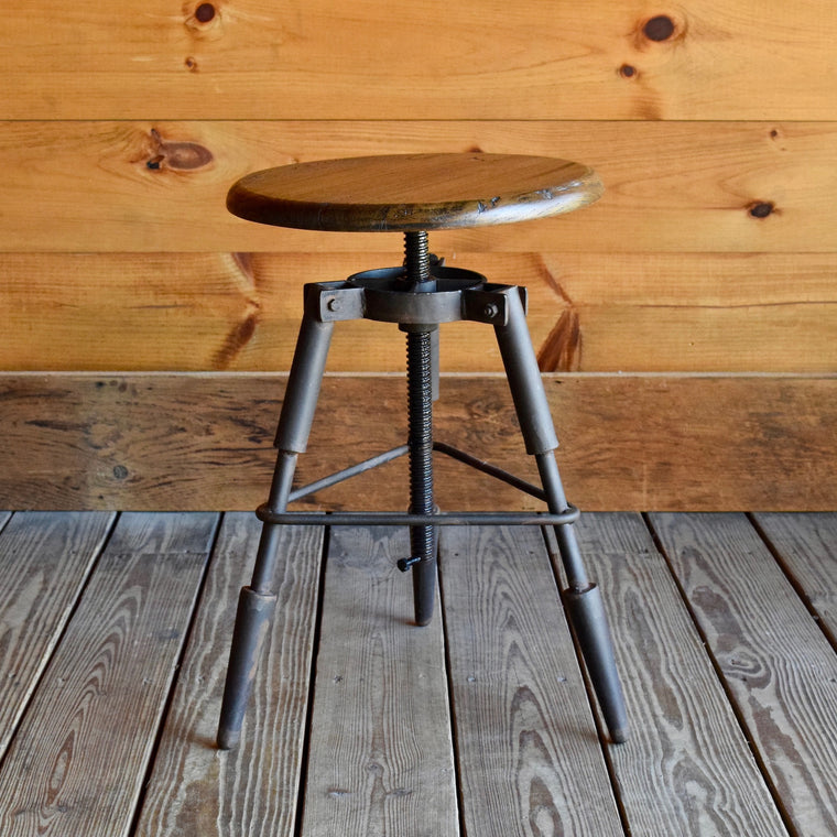Industrial Variable Height Stool