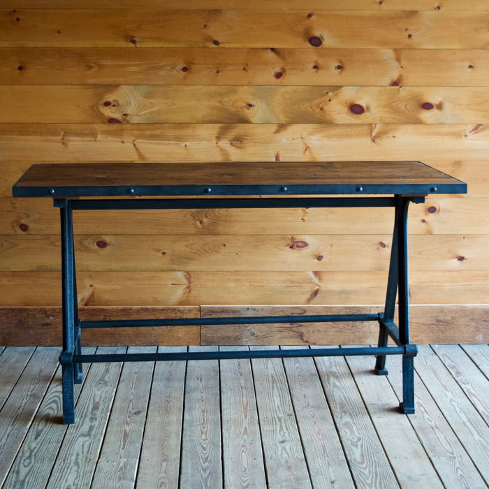 Recycled Teak and Iron Gathering Table